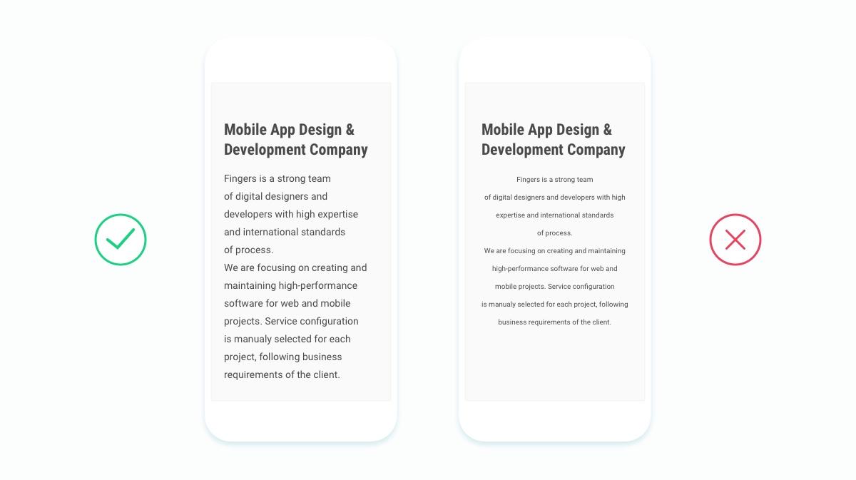 Работа с текстом в дизайне интерфейсов